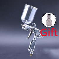 SPRAY GUN W 101 Air Spray Gun 400cc Cup Hand Manual Spray Gun 1.0/1.3/1.5/1.8mm High Quality W101 Air Spray Gun Power Tools