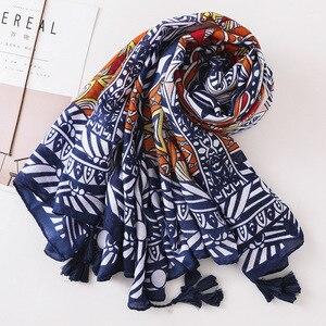 Image 3 - Frühling und Sommer Neue Korea Retro Nationalen Stil Thailand Reise Sonnencreme Schals Geometrische Schal Schals für Frau