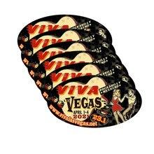 Pegatina de vinilo de alta calidad para el coche, calcomanía impermeable de Anime con impresión personalizada DIY de Las Vegas Rockabilly Weedkend
