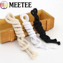 Meetee – Cordon 100% Coton tissé, 10 mètres, 5mm 6mm 7mm, corde torsadée, fil Rond, bricolage, décoration de maison