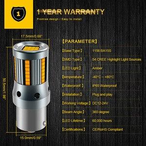 Image 4 - Clignotant, 2 pièces, sans erreur, lampe de voiture, ampoule 7440 BA15S P21W Canbus, ambre jaune, 12V, T20 LED W21W 1156