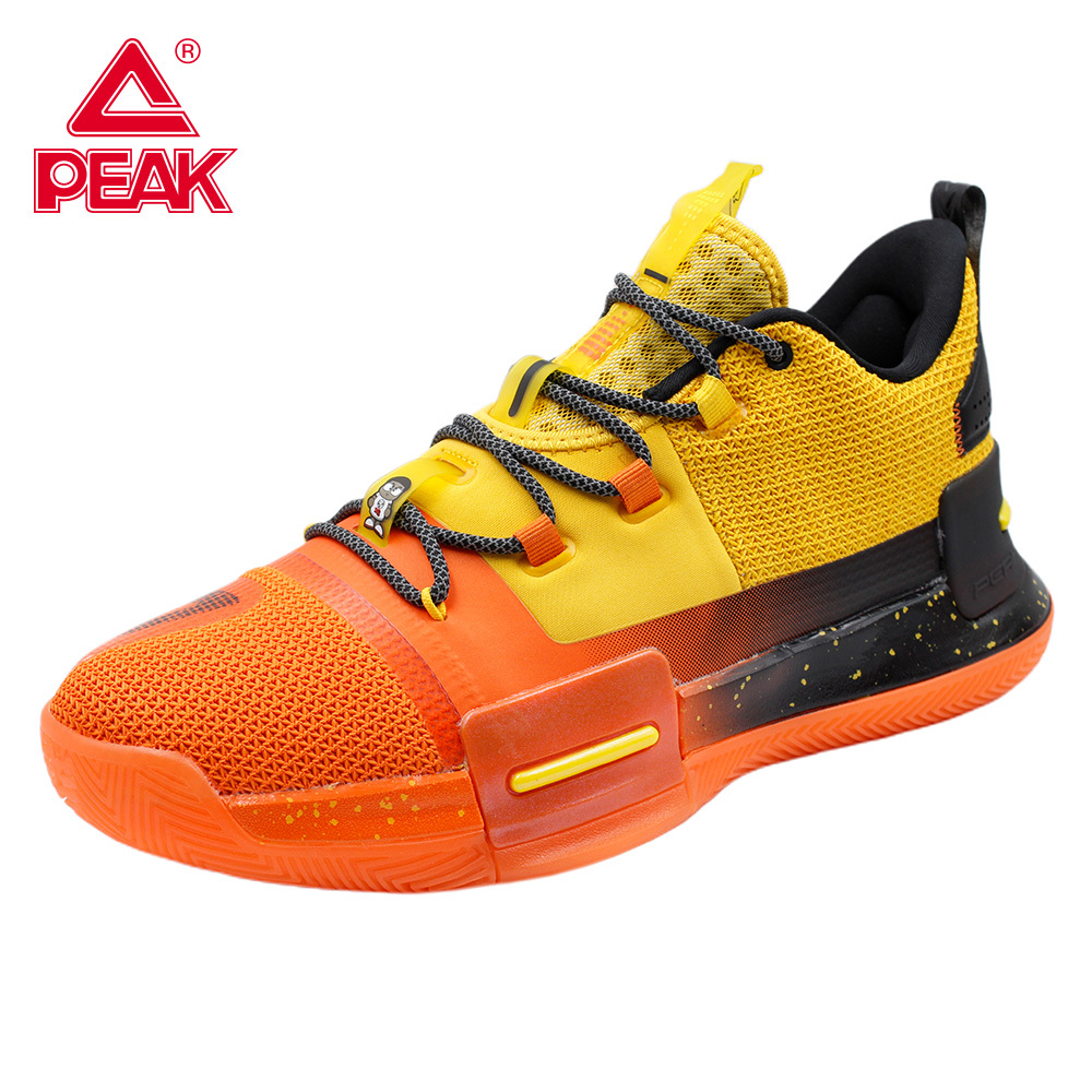 PEAK Lou Williams Basketball Shoes Professional Men's Wear Resistant Outdoor Cushioning Sneakers Light Breathable Sport Shoes
