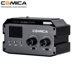 COMICA CVM-AX3 Dual XLR/6.35MM/3.5MM Microphone Audio Mixer Adapter for Canon Nikon DSLR camera camcorder for shooting videos