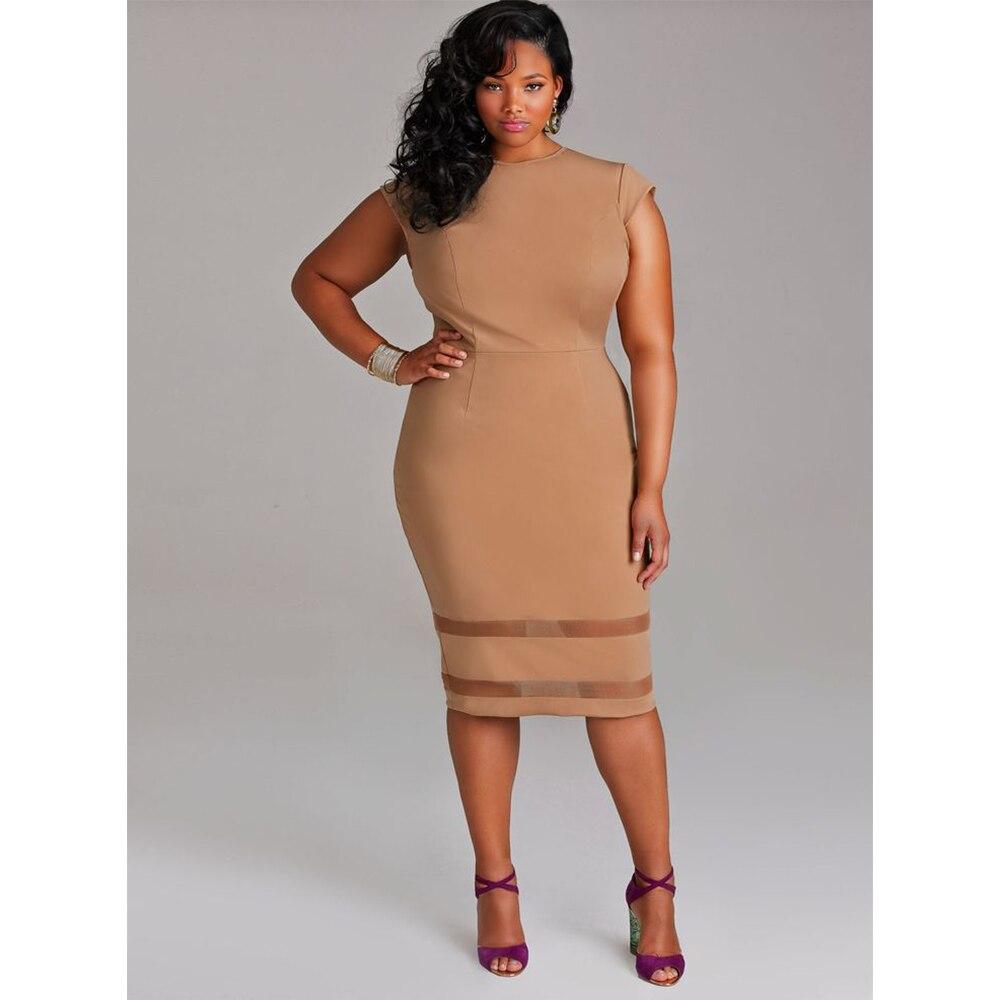 US $12.99 46% OFF|Plus Size Dress for Women Vintage Bodycon Dresses Female  Short Sleeve Chic Clothing Big Size Mesh Spliced Party Vestido De Festa-in  ...