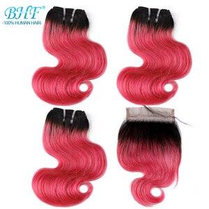 Image 3 - BHF 100% человеческие волосы, волнистые, 3 шт. в партии, с застежкой, бразильские Реми, 50 г/упак., наращивание волос, короткий Боб, парик, стиль