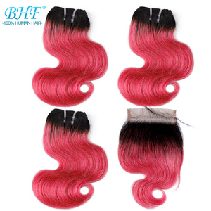 Image 3 - BHF 100% 인간의 머리카락 바디 웨이브 3pcs 로트 브라질 레미 50 그램/갑/팩 헤어 익스텐션 짧은 밥 가발 스타일