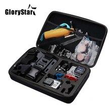 Acessórios para câmera de ação, tamanho p, m, l, bolsa para gopro hero 6, 5, xiaomi, yi, 4k, câmera portátil caixa para osmo eken h9 câmera esportiva
