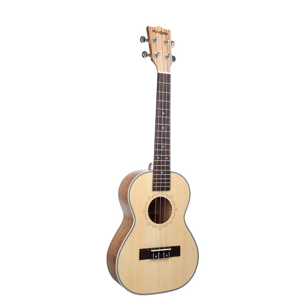 Ukulele 26 Inch Ukulele Solid Spruce Top Zebrawood Back Mahogany Ukulele 4 String Hawaii Guitar Tenor