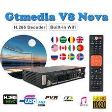 Satellite finder DVB S2 FULL HD 1080P freesat v8 H.265 built-in wifi Gtmedia V8NOVA support cccam lines spain satellite receiver цена