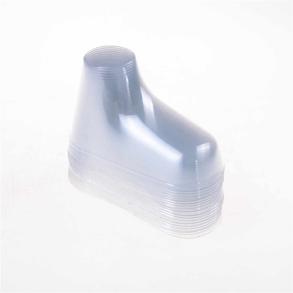 Plastic  9cm Transparent Foot Model Sock Molds Paste Baby Fondant Booties Mould Extrusion Display Gift Shoe Packaging 20 Pcs/lot
