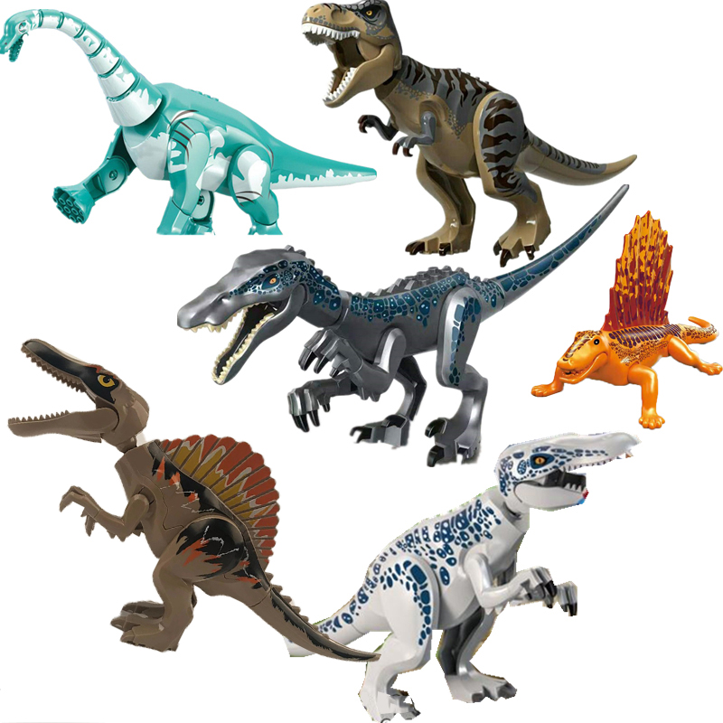 New Jurassic World 2 Dinosaurs Figures Tyrannosaurus Rex Indominus Rex Building Blocks Bricks Toys For Children