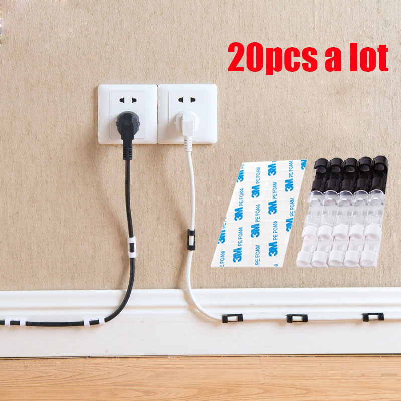 Adhesive Securing Clips Wire Organizer Line Card Subnet Solidus Wire Collection Fixed Clips Data Lines Solid Snap Clip