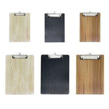 Przenośny A4 A5 drewniany schowek na dokumenty teczka na dokumenty teczka na dokumenty biurowe tanie tanio TINGE Clip Board Drewna