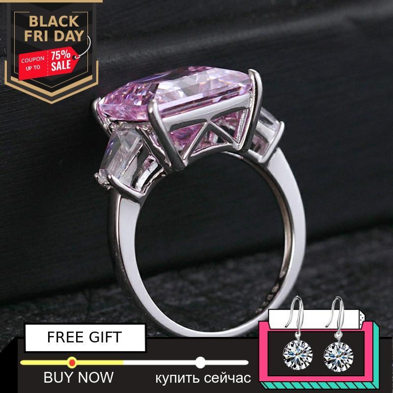 Pas faux 12*12mm princesse taille bague en diamant S925 en argent sterling fin mariage citrine saphir améthyste rubis couleur diamant