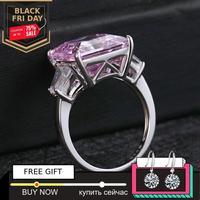 not fake 12*12mm Princess cut Diamond Ring S925 sterling silver fine wedding citrine sapphire amethyst ruby coloured diamond