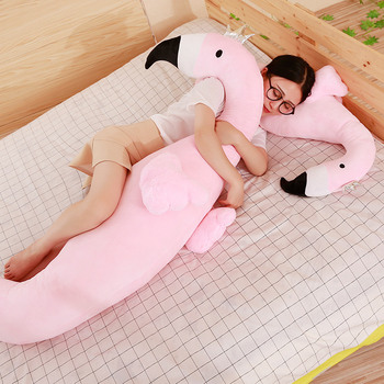 85/100cm Cartoon Pillow Pregnant Woman Pillow Animal Stuffed Back Support Cushion Relaxing Body Flamingo Doll Toy Kids Gift