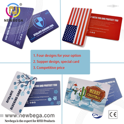 RFID NFC Blocking Shilding Cards For Passport/Purse Credit Card Size New Technology Premium Quality Free Shipping 1PCS