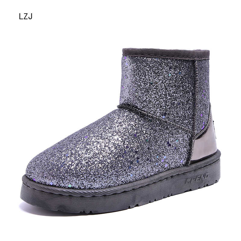 חדש חם חורף מגפי נשים קרסול מגפי שלג בנות נעלי זמש עם קטיפה מדרסים Botas Mujer Zapatos דה Mujer