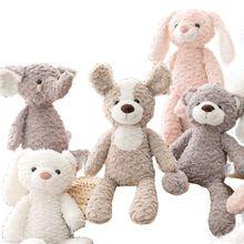 Милая плюшевая игрушка Медведь Кролик/единорог/слон, плюшевая игрушка высокого качества, Успокаивающая Мягкая кукла для сна, подарок для но...