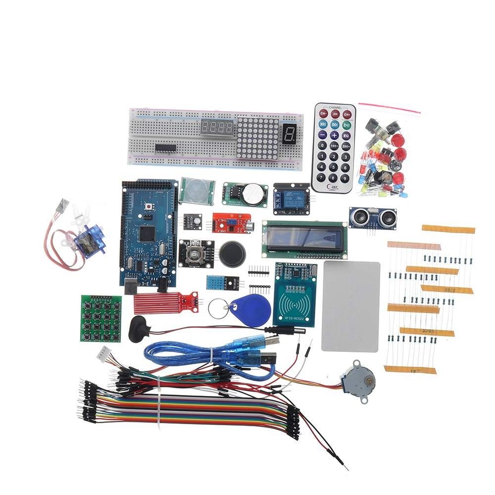 For Mega 2560 R3 Starter Kits Motor Servo RFID Ultrasonic Ranging Relay LCD For Arduino