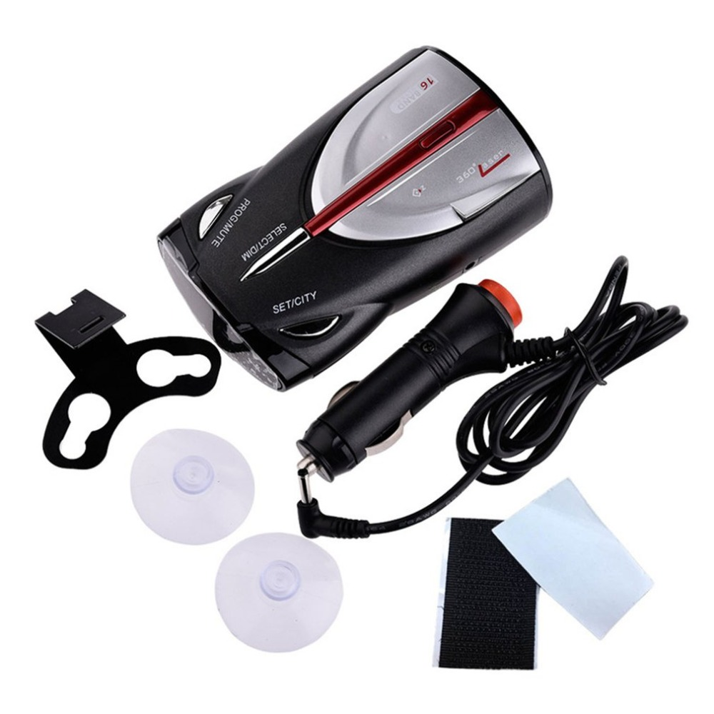 12V 16 Band Cobra XRS 9880 Laser Anti Radar Car Detector 360 Degree Led Display Police Speedometer Voice Alert/Alarm Laser
