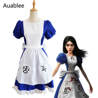 Game Alice Madness Returns Maid Dress Women Maid Cosplay Costume Halloween Party Lolita Princess Dress Restaurant Servant Outfit