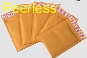 Peerless (110*130mm) 100 pcs/lots Kraft bulle Mailers enveloppes rembourrées emballage sacs d'expédition expédition enveloppe sacs