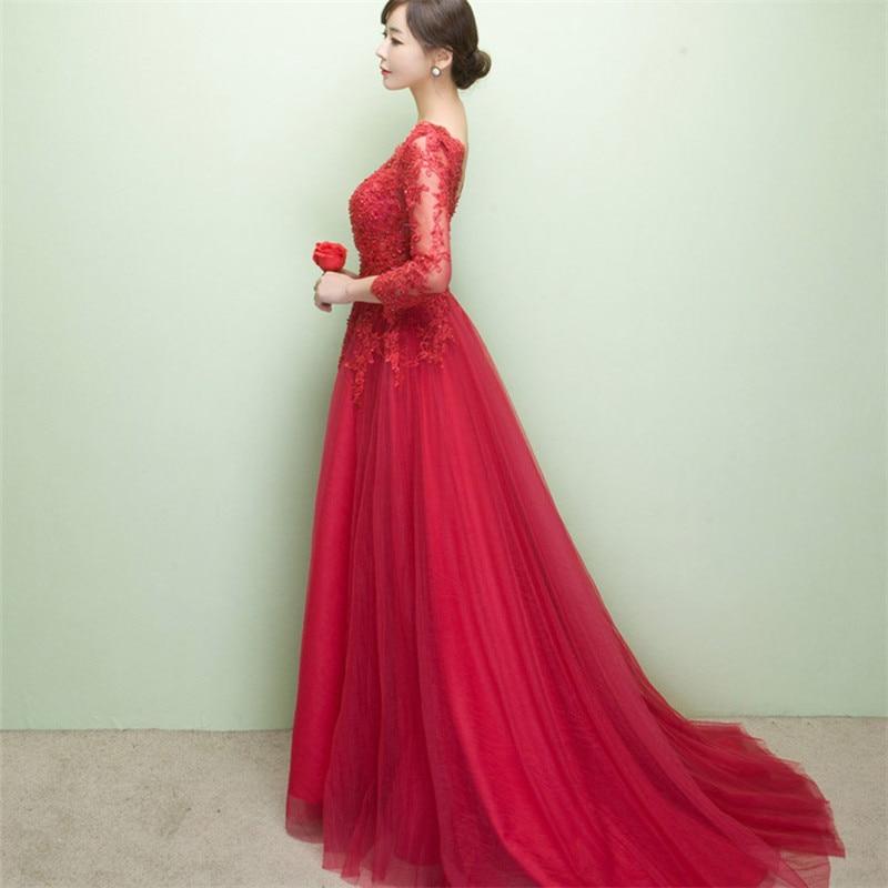 Это Yiiya Новое элегантное вечернее платье в пол с открытой спиной на шнуровке с цветами вечерние платья LX048 - Цвет: Красный
