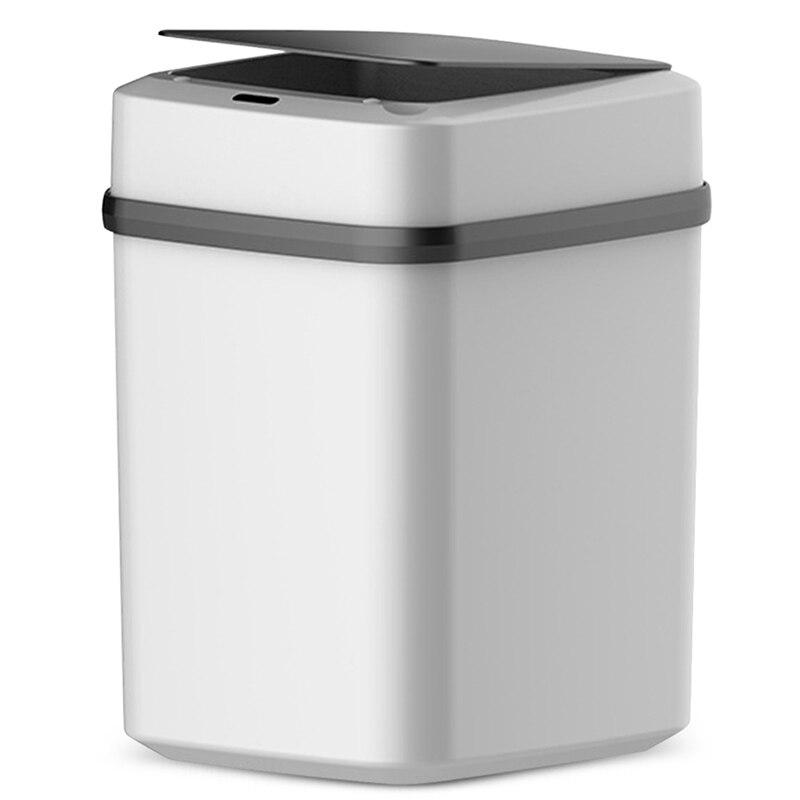 Ev ve Bahçe'ten Atık Kovaları'de Otomatik akıllı sensör akıllı çöp tenekesi çöp kovası hareket dedektörü mutfak yatak odası enerji tasarrufu yok gürültü 10L pil title=