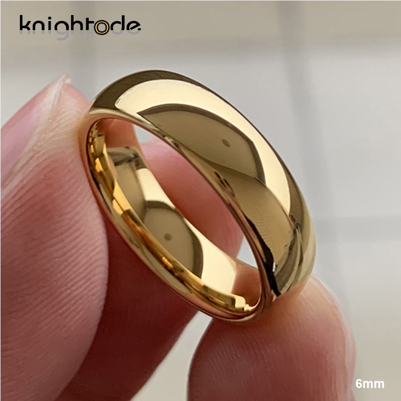Classic Rose Gold Tungsten Wedding Ring For Women Men Tungsten Carbide Engagement Band Dome Polished Finish 8mm 6mm Ring 6