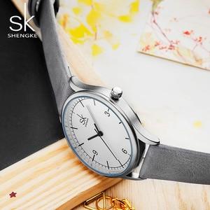 Image 4 - Shengke العلامة التجارية جلد النساء الساعات موضة السيدات ساعات كوارتز خمر المرأة عادية المرأة المعصم
