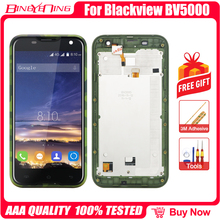 New High Quality For Blackview BV5000 LCD&Touch screen Digitizer with frame display module Repair Replacement Accessories Parts