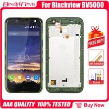 Piezas de repuesto para Blackview BV5000 LCD y Digitalizador de pantalla táctil, alta calidad, con módulo de pantalla de Marco
