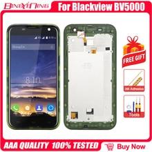 Yeni yüksek kaliteli Blackview BV5000 LCD ve dokunmatik ekran Digitizer çerçeve ile ekran modülü tamir yedek aksesuarları parçaları