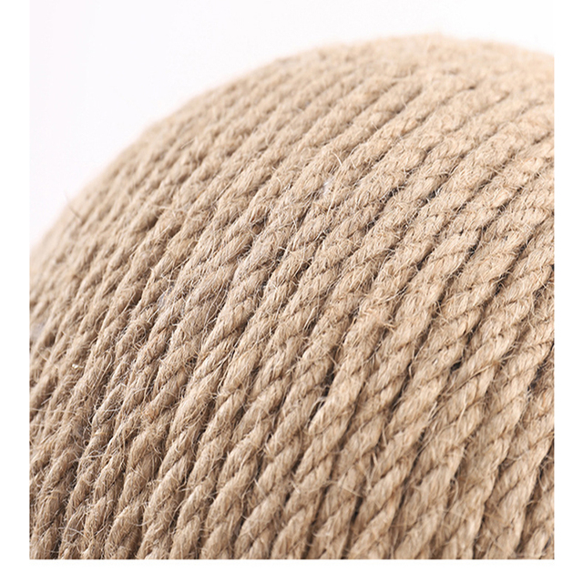 Cat Scratcher Sisal Rope Ball Cat Scratching Post Wood Stand Anti-Scratch Toy For Cats 3
