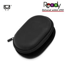 Earphone Case ZSX Black Storage-Box Logo Portable AS10 Zs10-Pro Ready-Kz Hold Oval Zipper