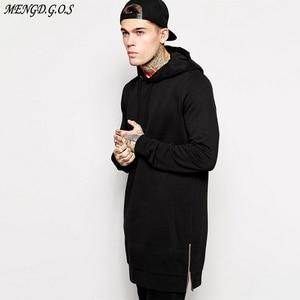 Image 2 - Бренд Jogger уличная Мужская толстовка в стиле хип хоп повседневное длинное пальто осень зима модная мужская одежда из чистого хлопка