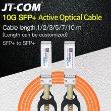 משלוח חינם 10G SFP + לsfp + AOC כבל 1m 2m 3m 5m 7m 10m SFP מודול OM2 פעיל אופטי כבל תמיכה מותאם אישית אורך