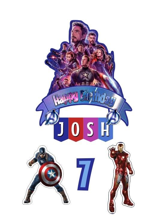 Fine Custom Name Age Avengers Superhero Party Supplies Picks Kids Baby Funny Birthday Cards Online Elaedamsfinfo