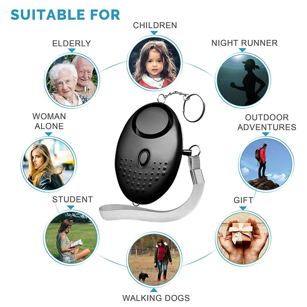 130 Db Safesound Personal Security Alarm Keychain Safety Emergency For Women Kids Girl Self Defense Electronic Device Self Defense Supplies Aliexpress