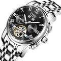 2019 водонепроницаемые автоматические часы с турбийоном  механические мужские часы со скелетом  мужские часы