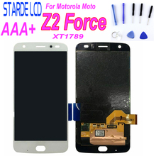For Moto Z2 Force LCD Display Touch Screen Digitizer For Moto Z2 Force XT1789 Burn No Front Flash Led with Free Tools