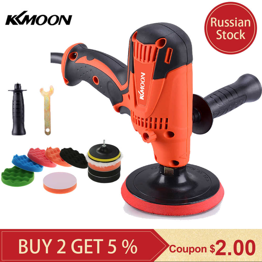 KKmoon 800W Grinder Mini Polijstmachine Auto Polijstmachine Schuren Machine Baan Variabele Snelheid Waxen Polijstmachine Power Tools