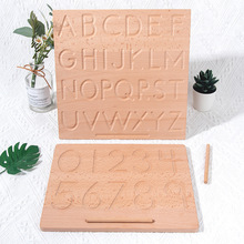 Baby Alphabet Montessori Educational Wooden Toys Digitals Board Kids Writing Practice Learning Number Letters Toys for Children