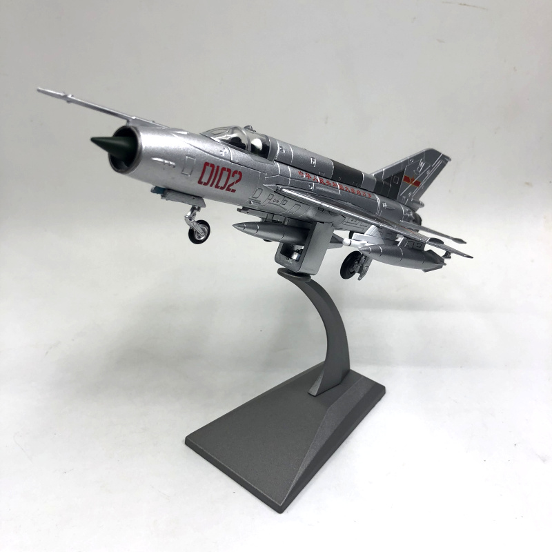 1/72 Scale Military Model Toys PLAAF MiG-21 Fishbed Fighter Diecast Metal  Plane  Aircraft  Airplane Model Toy For Collection