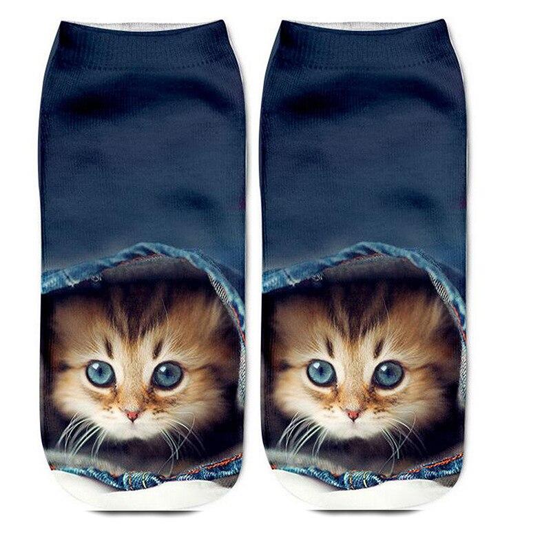 3pcs/lot Woman Socks Funny 3d Printed Animal Socks Funny Socks Cute Socks Animal Print Socks Animal Socks Cat Socks  Women Socks