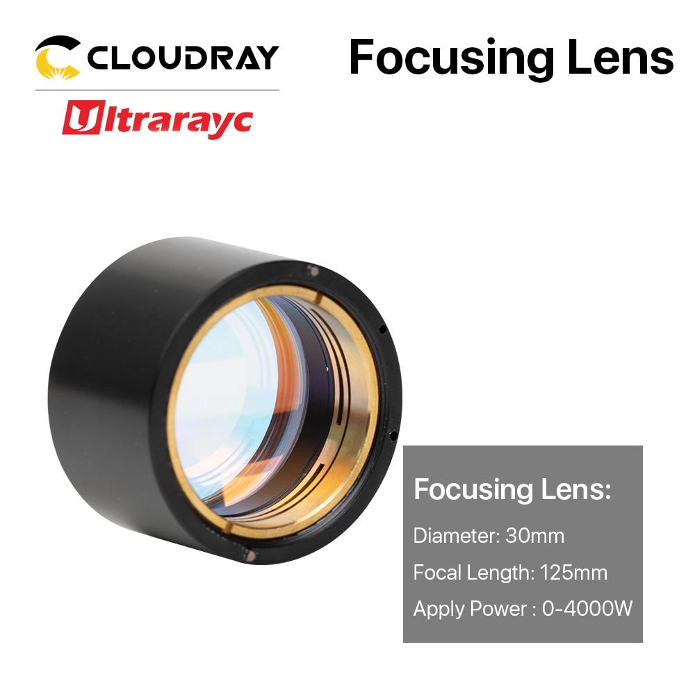 Ultrarayc Fiber Laser Focus Lens D30 F100 F125mm with Holder for Precitec Cutting Head