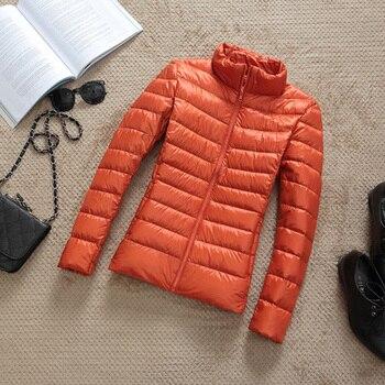 New Brand 90% White Duck Down Jacket Women Autumn Winter Warm Coat Lady Ultralight Duck Down Jacket Female Windproof Parka 11