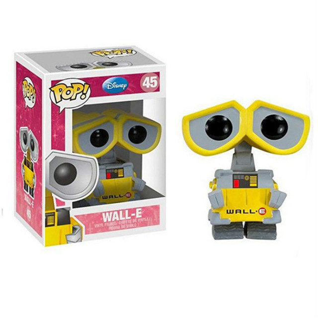 FUNKO POP WALL-E 45# & Eve #44 Action Figure Toys PVC Movie Figure Decoration Model Dolls for Kids Christmas Birthday Gifts 3