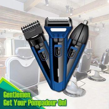 Akumulatorowe golarki elektryczne spinki do włosów akumulatorowe maszynki do włosów w nosie dla mężczyzn Wet Dry elektryczne golarki męskie wodoodporne tanie i dobre opinie Kemei CN (pochodzenie) Kontynentalne (220 V) Dorosłych STAINLESS STEEL 85 Min ABS PC